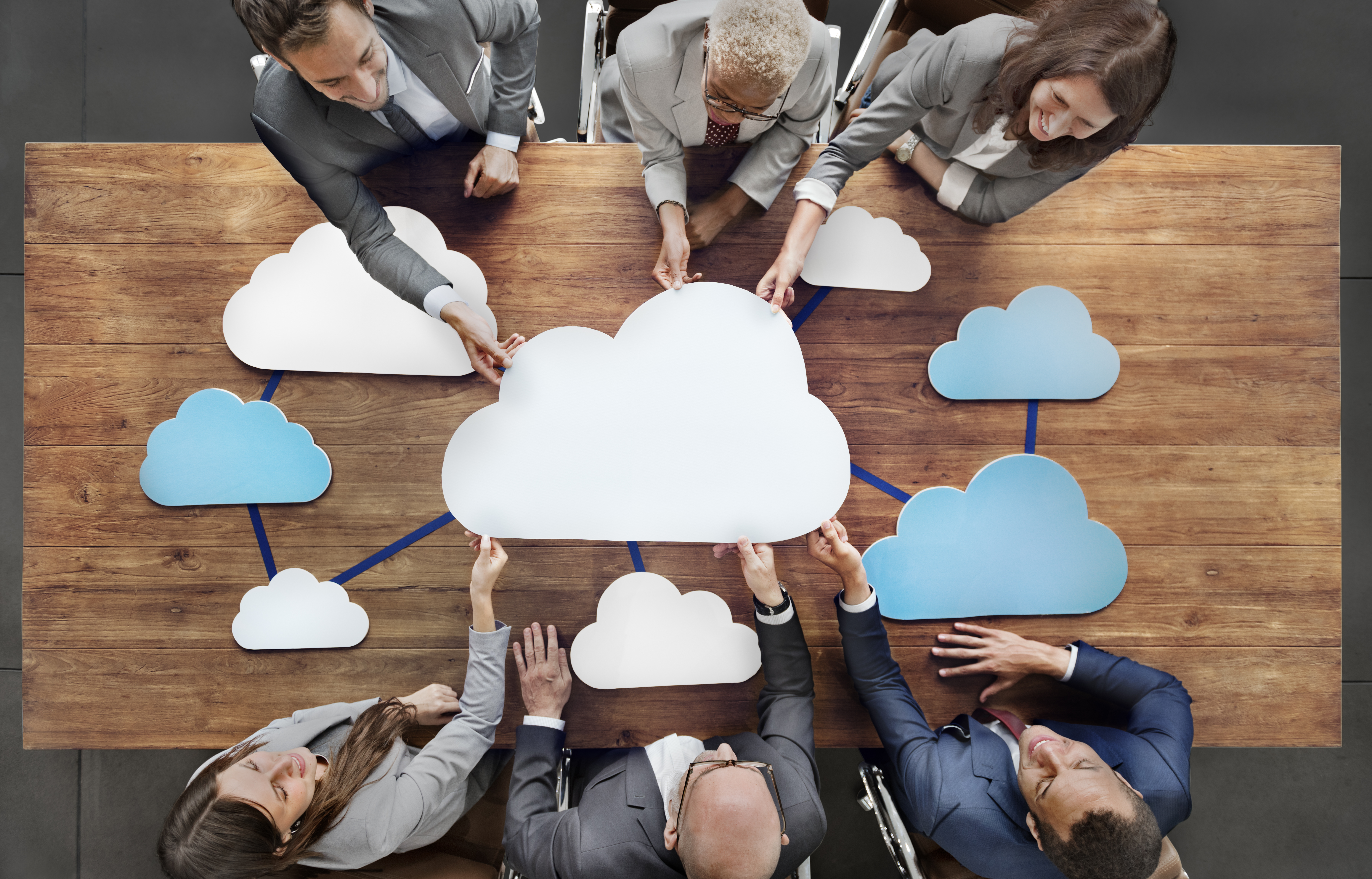 Business,People,Joining,Cloud,Teamwork,Concept
