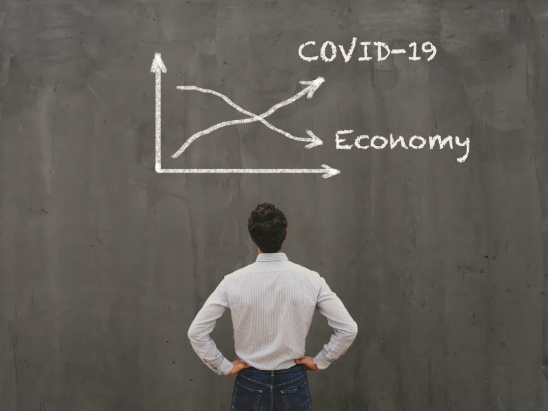 Econimical,Crisis,Concept,Due,To,Coronavirus,Covid-19,Spread,In,The